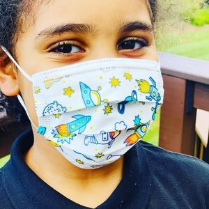 3-2-1 Blast Off Kids Disposable Mask Size 3-12 yrs